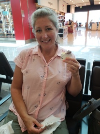 At the Naples airport - just one last gelato for the road!