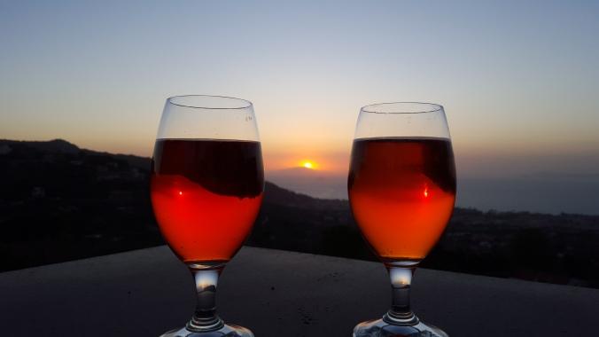 aperol at sunset