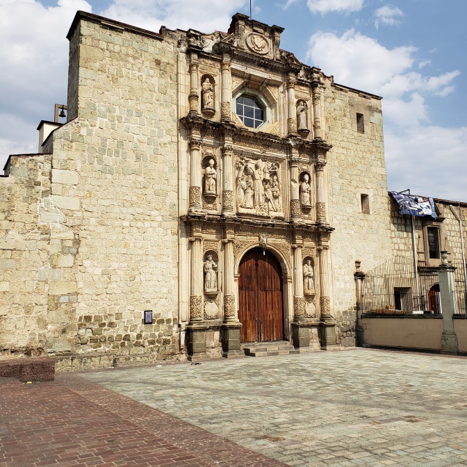 Church in historical Oaxaca